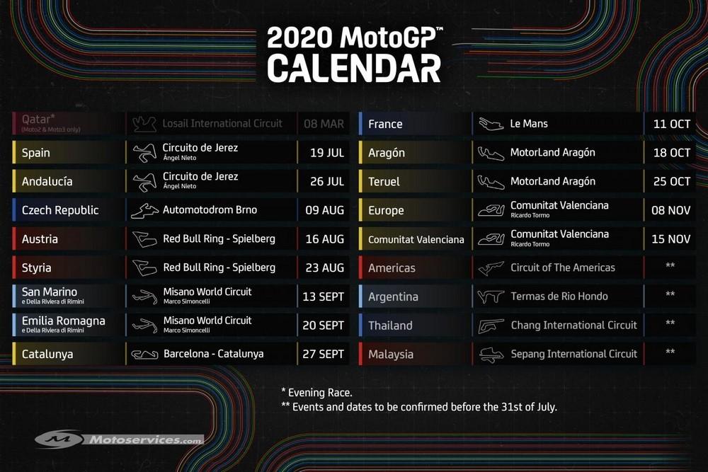 MotoGP 2020 : Le GP de France au calendrier de Dorna