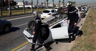 Accidents de la route : 20 décès et 1326 blessés