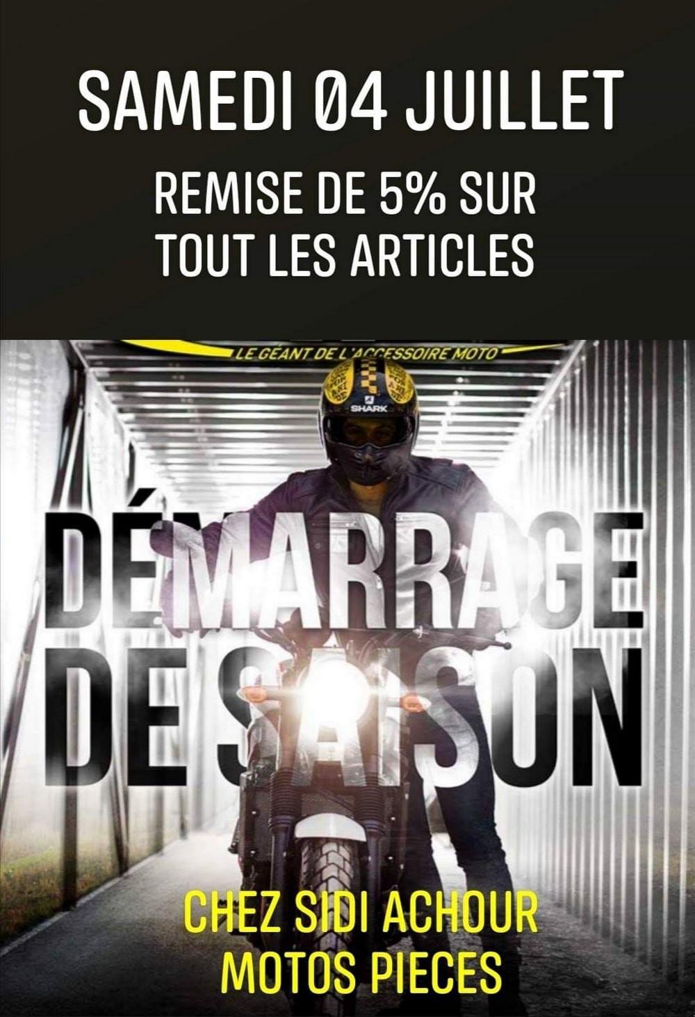 Sidi Achour Motos Pièces : Remise de 5%sur tout le magasin, ce samedi 4 juillet 2020