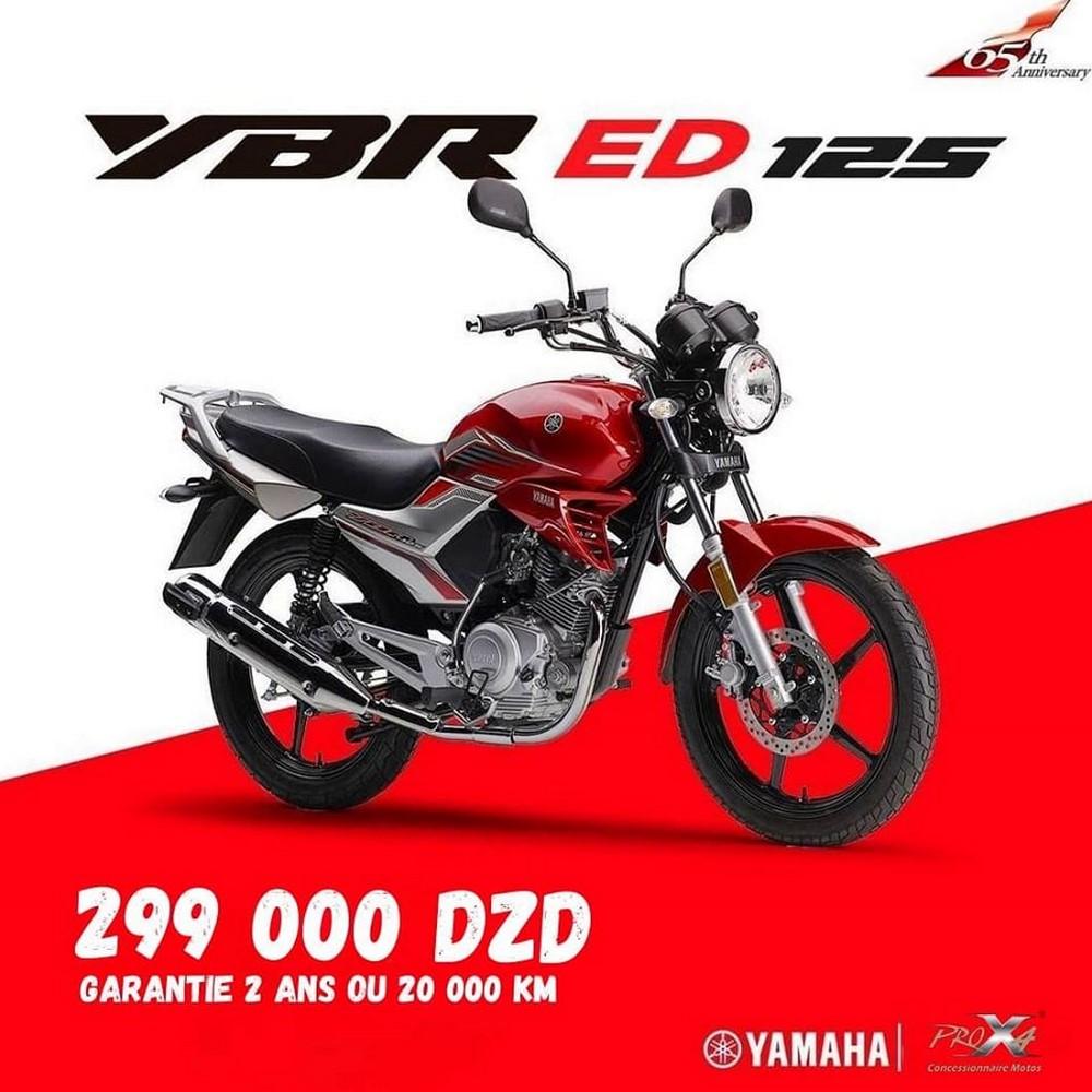 Yamaha Algérie : YBR ED 125, disponibilité et tarif Juillet 2020