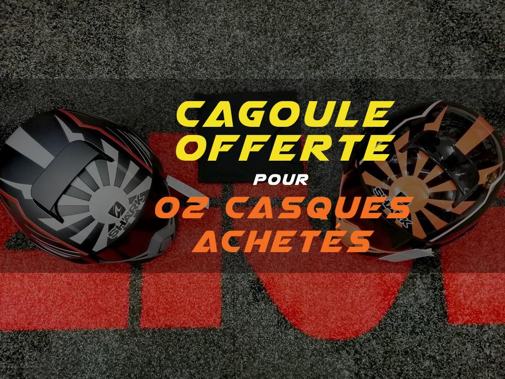 """SHARK Algérie : cagoule offerte lors de l'achat de 2 casques """"STREET DRAK"""""""